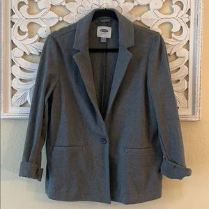Old Navy Gray One Button Blazer